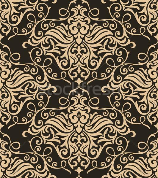 レトロな フローラル 抽象的な シームレス デザイン 壁紙 ストックフォト © SelenaMay