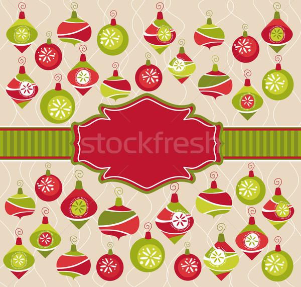 クリスマス フレーム 抽象的な かわいい 赤ちゃん 幸せ ストックフォト © SelenaMay