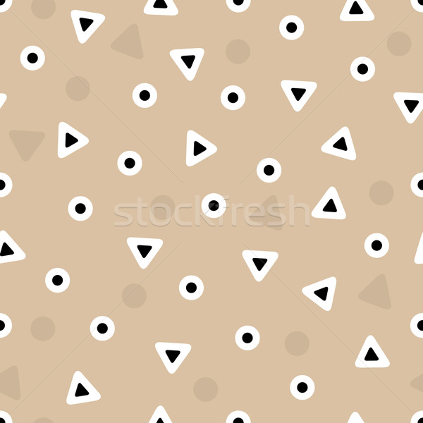 Cute resumen sin costura patrón geométrico arte Foto stock © SelenaMay