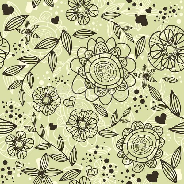 シームレス フローラル 抽象的な かわいい 花 美 ストックフォト © SelenaMay