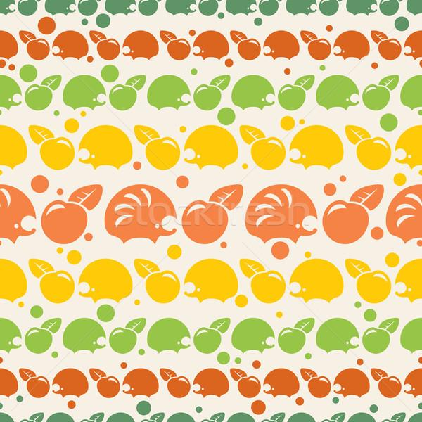 Padrão maçãs abstrato comida fundo Foto stock © SelenaMay