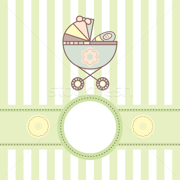 baby card with cradle Stock photo © SelenaMay