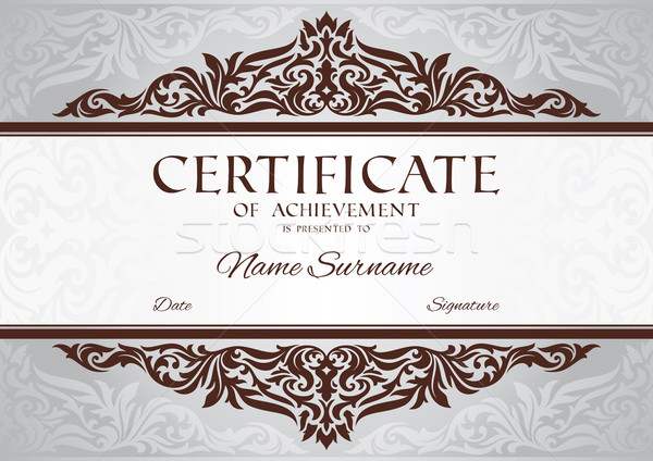 certificate of achievement Stock photo © SelenaMay