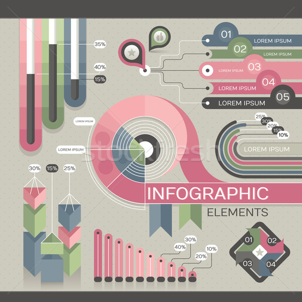 Modern infographic template Stock photo © SelenaMay