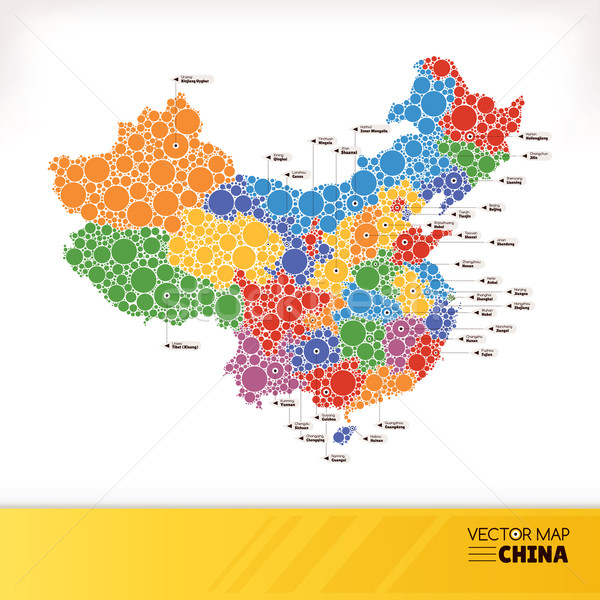 Map of China Stock photo © SelenaMay