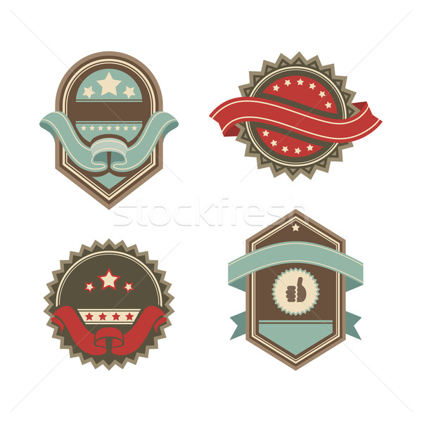 vintage vector labels Stock photo © SelenaMay