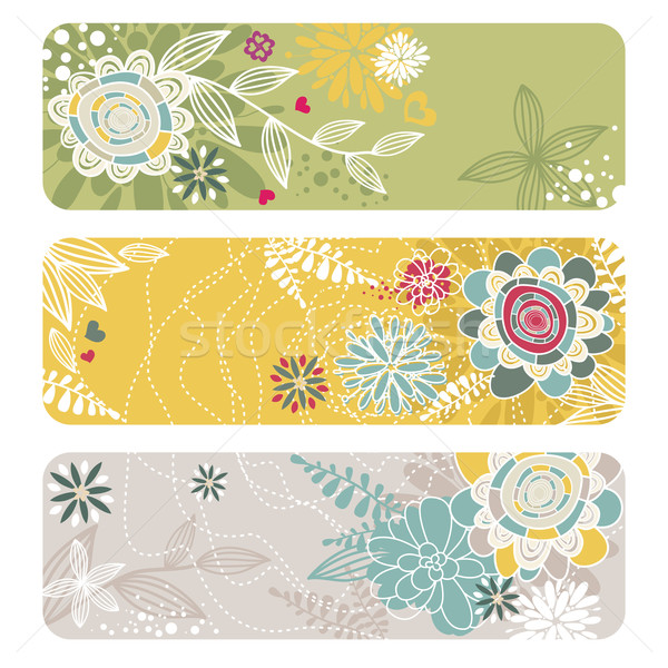 abstract floral banners Stock photo © SelenaMay