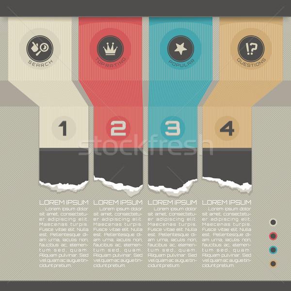 Modern şablon can kullanılmış infographics Stok fotoğraf © SelenaMay