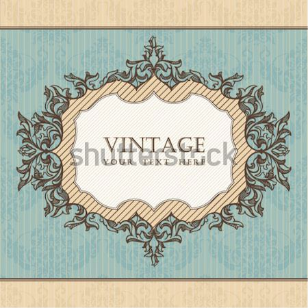 royal vintage frame Stock photo © SelenaMay