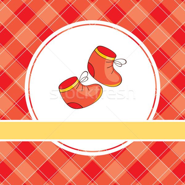 Illusztráció piros cipők absztrakt baba gyermek Stock fotó © SelenaMay
