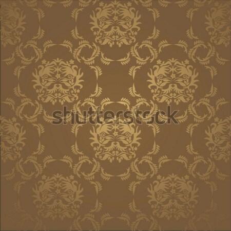 Naadloos damast behang abstract blad weefsel Stockfoto © SelenaMay