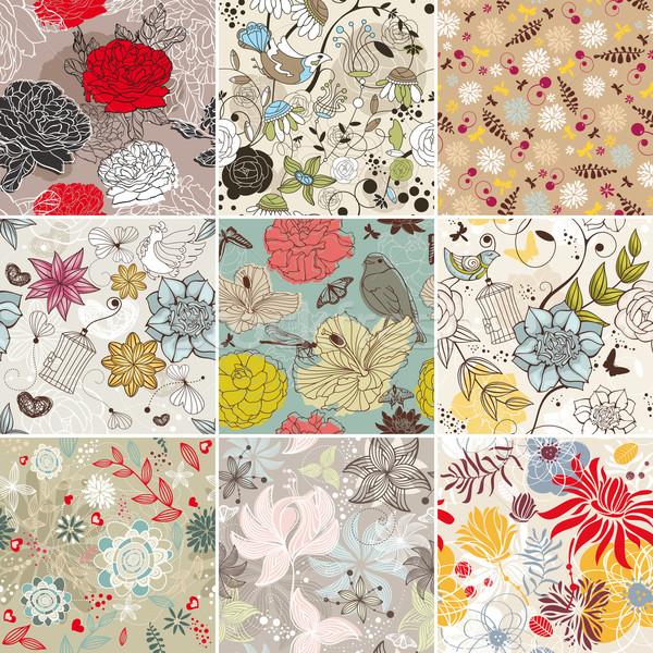 Floral résumé vecteur nature Photo stock © SelenaMay