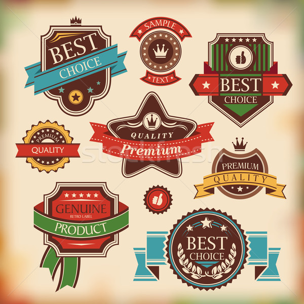 vintage labels and badges Stock photo © SelenaMay