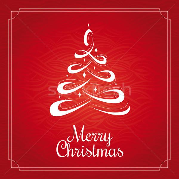 árbol de navidad Navidad tarjeta de felicitación fondo arte Foto stock © SelenaMay