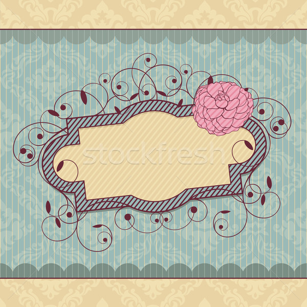 vector vintage frame Stock photo © SelenaMay