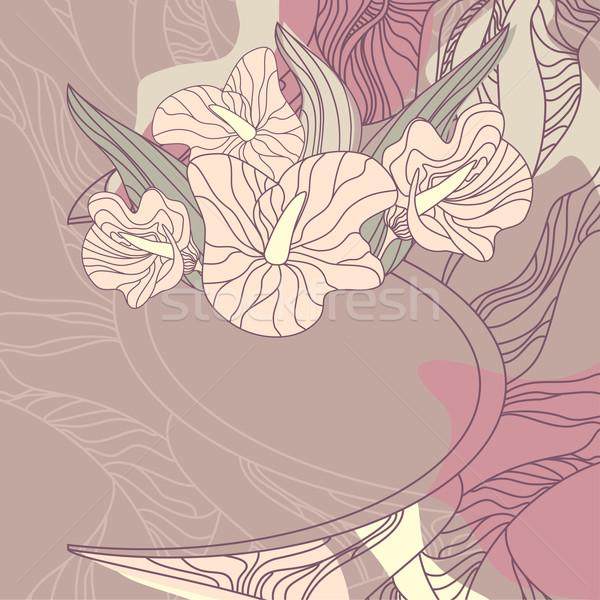 Sevimli ücretsiz yer çiçek bahar Stok fotoğraf © SelenaMay