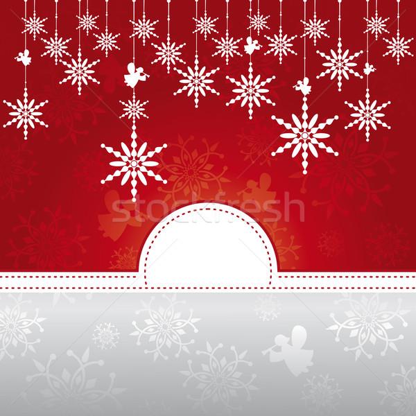 雪 抽象的な 幸せ 雪 赤 ストックフォト © SelenaMay