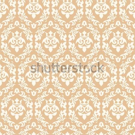 Bezszwowy adamaszek streszczenie tapety liści tkaniny Zdjęcia stock © SelenaMay