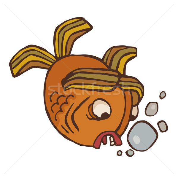 странно вектора рыбы аннотация страшно коричневый Сток-фото © SelenaMay