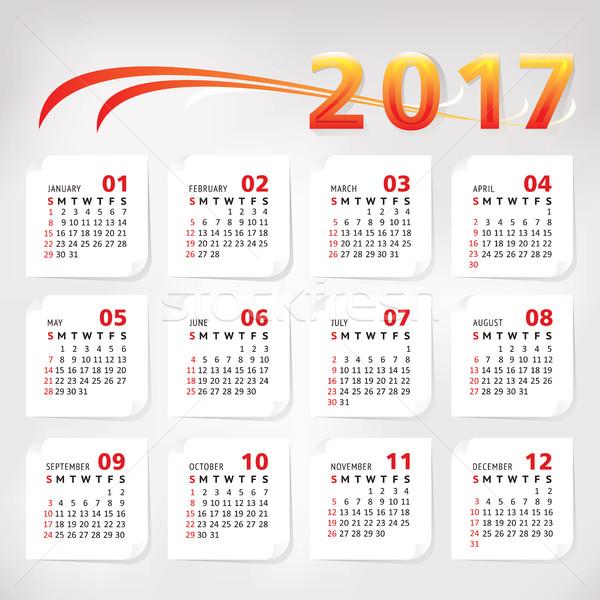 Año simple oficina calendario negocios primavera Foto stock © SelenaMay