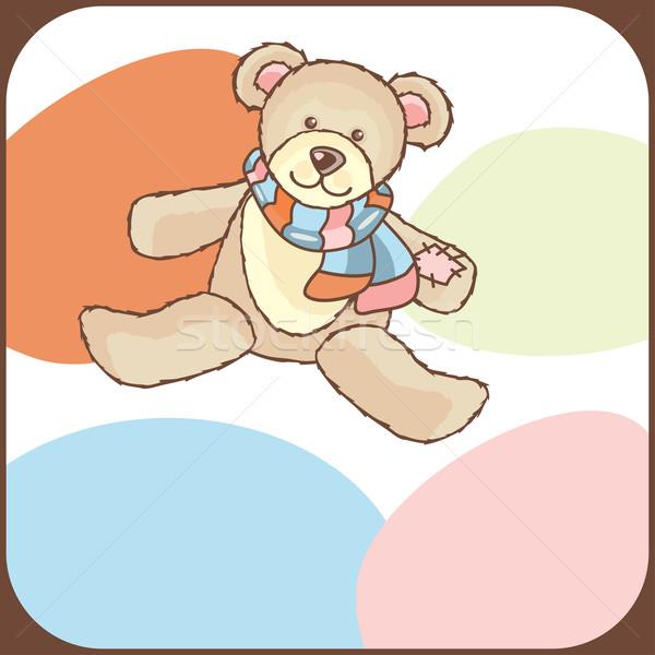 かわいい 赤ちゃん 到着 発表 カード 愛 ストックフォト © SelenaMay