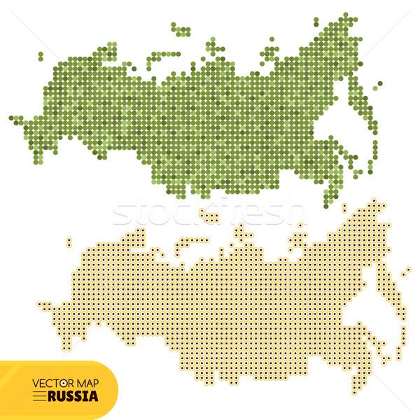 ベクトル 点在 地図 ロシア インターネット 抽象的な ストックフォト © SelenaMay