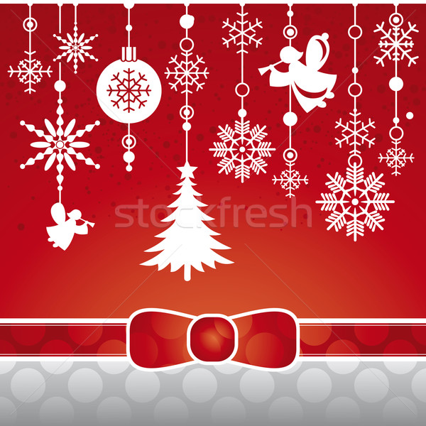 Christmas card with snowflakes Stock photo © SelenaMay