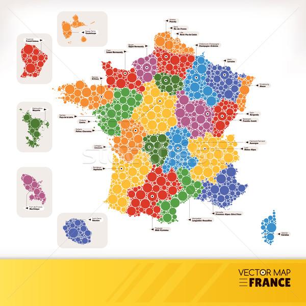 Map of France Stock photo © SelenaMay