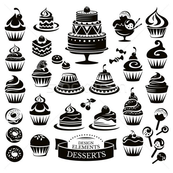 Desserts design alimentaire art Photo stock © SelenaMay