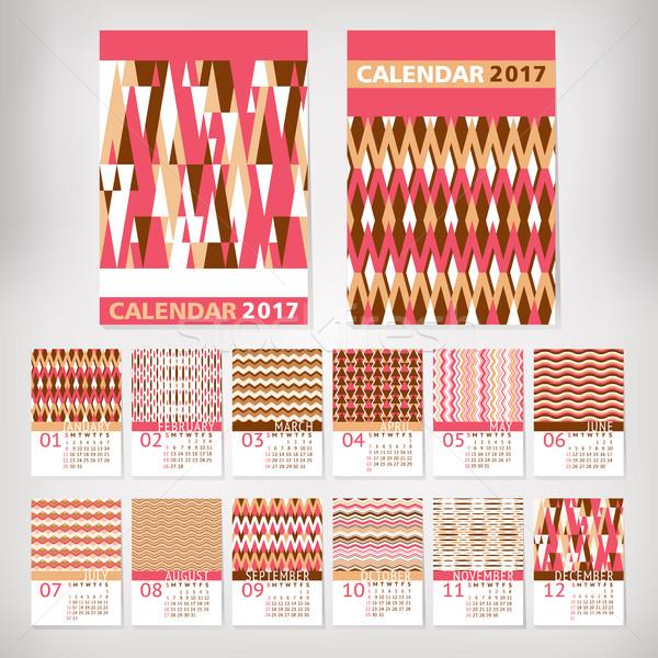 2017 year stylish calendar Stock photo © SelenaMay