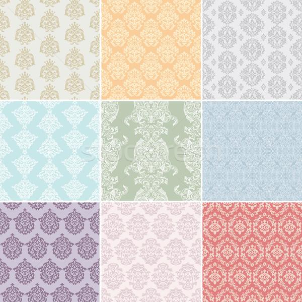 Senza soluzione di continuità retro set abstract sfondo tessuto Foto d'archivio © SelenaMay