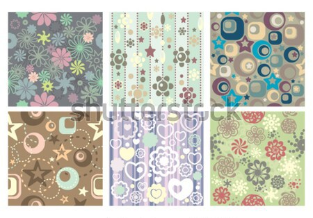 simple seamless patterns Stock photo © SelenaMay