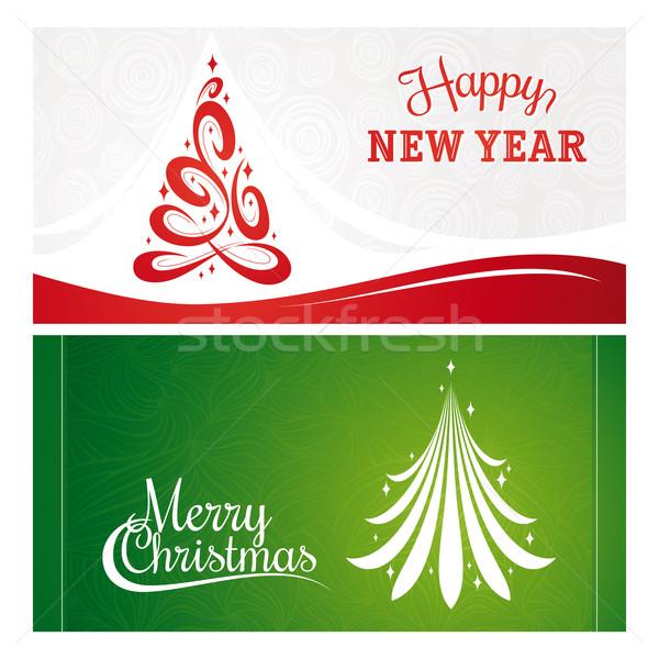 Noel yılbaşı tebrik kartları ışık arka plan Stok fotoğraf © SelenaMay