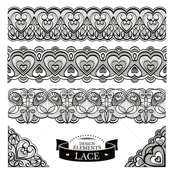 Set of lace patterns  Stock photo © SelenaMay