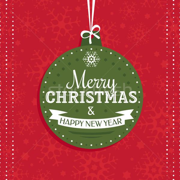 クリスマス グリーティングカード 木材 幸せ 抽象的な 光 ストックフォト © SelenaMay