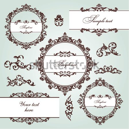 vintage design elements Stock photo © SelenaMay