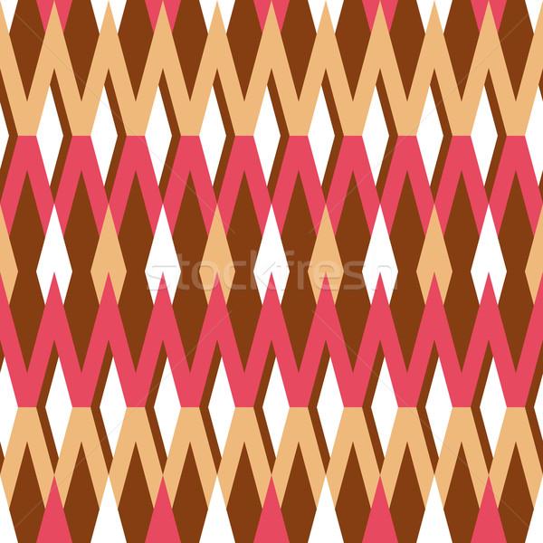 Abstract meetkundig kleurrijk patroon groot textiel Stockfoto © SelenaMay