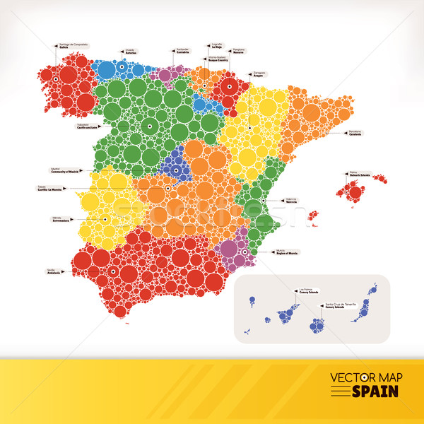 Map of Spain Stock photo © SelenaMay