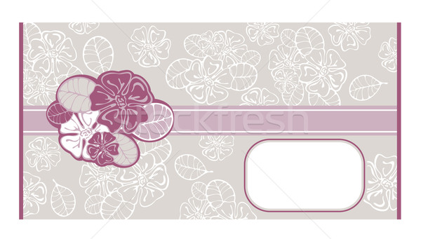abstract lacy envelope Stock photo © SelenaMay