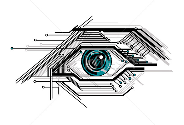 conceptual tech stylized eye Stock photo © SelenaMay