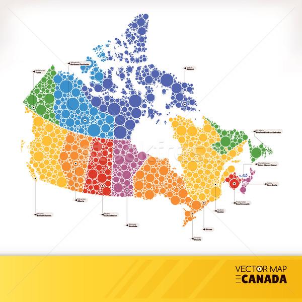 Map of Canada Stock photo © SelenaMay