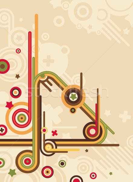 抽象的な レトロな 音楽 中心 デザイン 背景 ストックフォト © SelenaMay