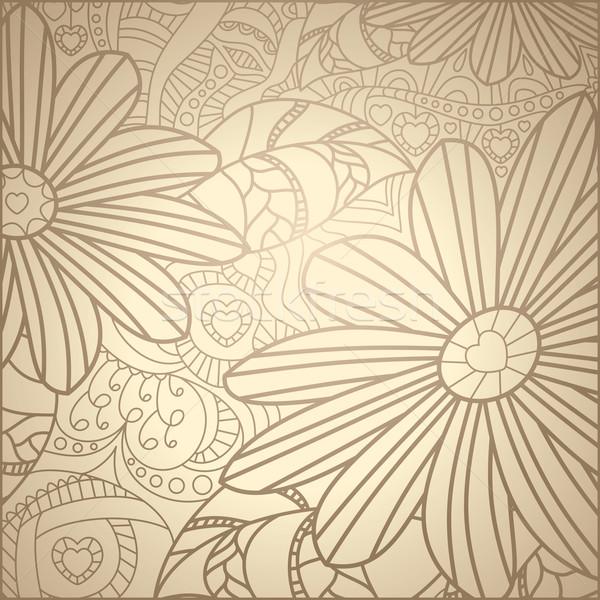 Sevimli model güzellik duvar kağıdı bitki Stok fotoğraf © SelenaMay