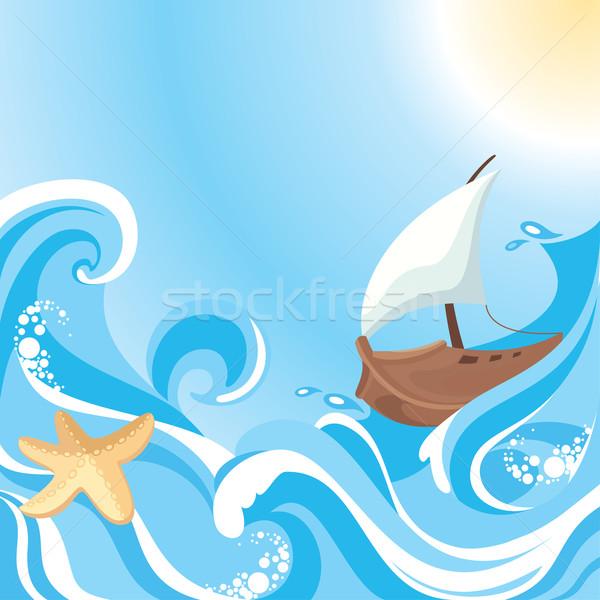 abstract sea background Stock photo © SelenaMay