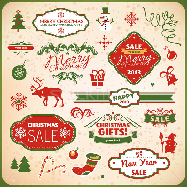 クリスマス 装飾 要素 コレクション 幸せ ストックフォト © SelenaMay