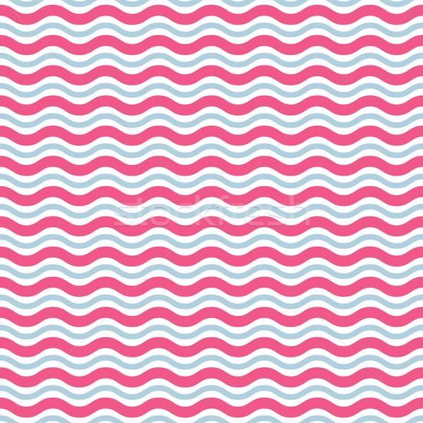 Dalga soyut geometrik renkli muhteşem Stok fotoğraf © SelenaMay
