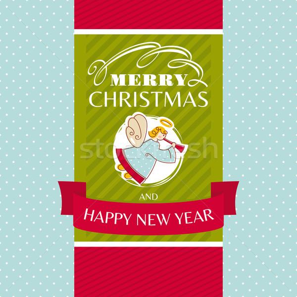 クリスマス グリーティングカード 背景 芸術 冬 レトロな ストックフォト © SelenaMay