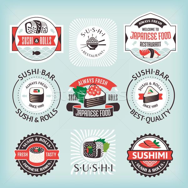Foto stock: Conjunto · sushi · peixe · cozinha