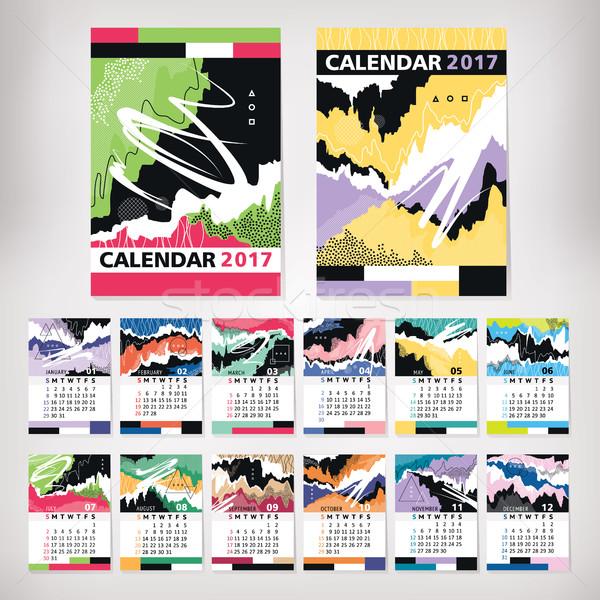 год календаря современный стиль искусства служба Сток-фото © SelenaMay