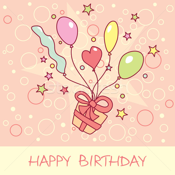 happy birthday card Stock photo © SelenaMay